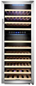 kalamera weinkühlschrank freistehend 73 flaschen 200 liter kompressor 2 zonen led display edelstahl glastür krc 73bss