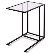 möbel tische beistelltisch glas schwarz chrom telefontisch