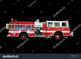 Fire Engine Isolated On Black Stock Photo & Image (Royalty-Free ...