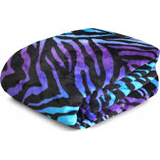 Walmart Zebra Bedding by Your Zone Printed Plush Blanket Collection Walmart Com