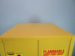 Flammable Safety Cabinet 45 Gal Yellow by Eagle Flammable Storage Cabinet 60 Gal New