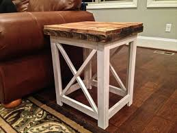 Diy Pallet End Table And Nightstand