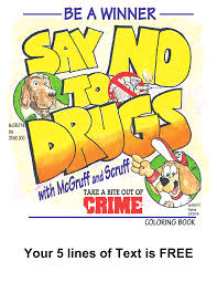 McGruff The Crime Dog Say No To Drugs Coloring Book