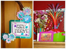 Art Birthday Party Creative Stations And Decorations