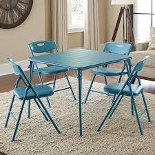Cosco Folding Chairs And Table by Cosco 5 Piece Folding Table And Chair Set Multiple Colors