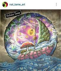 Colored By Natalie Tame Find This Pin And More On Enchanted Forest Coloring Book