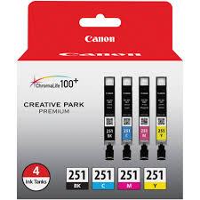 Canon CLI 251 4 Cartridge Ink Set