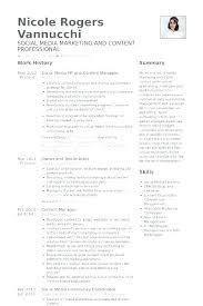 Restaurant Owner Resume Sample Good Here Are Social Media Manager Specialist Example