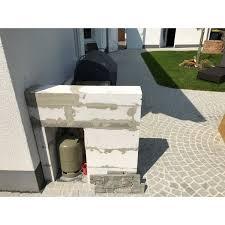 selbstgebaute outdoor küche mit bull bbq