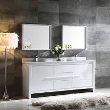 72 Inch Double Sink Bathroom Vanity by Fresca Allier 72 Inch White Modern Double Sink Bathroom Vanity