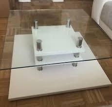 details zu couchtisch tisch glastisch weiss wohnzimmer hochglanz