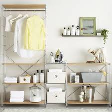 MAX Laundry Chrome Modular Shelving Set In