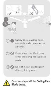 Ceiling Fan Wobble Safe by Safety Features Panasonic Fan Products Panasonic Malaysia