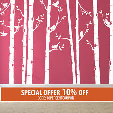 Wall Mural Decals Nature by Birch Trees Decals For Colored Walls Wall Decals Nature Wall
