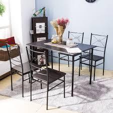 Harper Bright Design 5 Pcs Dining Table Set Dining Set Dining Furniture Wood And Metal Home Kitchen Furniture Espresso