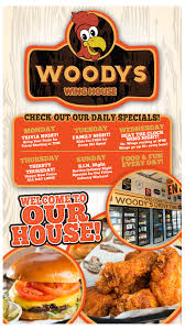 100 Wing House Specials Woodys