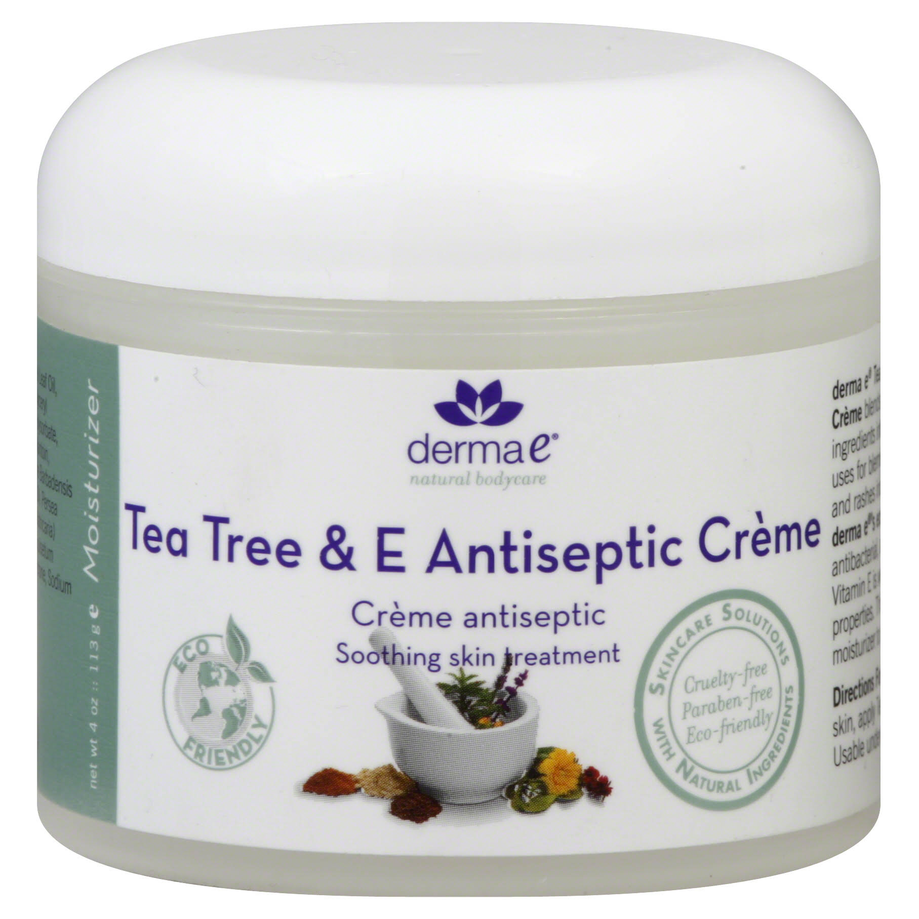 Derma E Tea Tree & E Antiseptic Creme - 4 oz