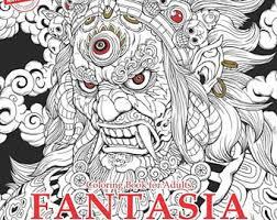 FANTASIA Coloring Book By Nicholas F Chandrawienata