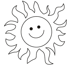 Clipart Of Sun For Colouring