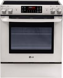 LG LSE3090ST 30 Inch Freestanding Electric Range With 4 Radiant Elements 3 Oven Racks 54 Cu Ft Convection IntuiTouch Control System