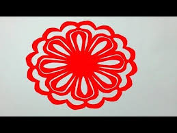 How To Make Simple Paper Cutting Flowerspaper Design For Home Decor DIY Kirigami Tutorials
