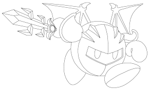 All Meta Knight Coloring Pages