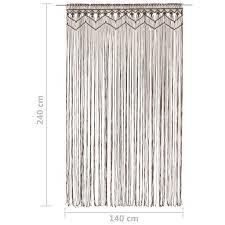 makramee vorhang taupe 140x240 cm baumwolle huberxxl