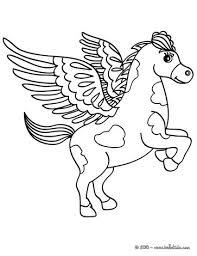 PEGASUS The Flying Horse Of Greek Mythology Coloring Page