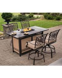 5 Piece Bar Height Patio Dining Set by Spectacular Deal On Outdoor Hanover Traditions Aluminum 5 Piece