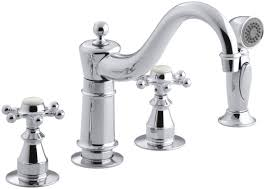 Perrin And Rowe Faucets by Kohler Antique Three Hole Kitchen Sink Faucet With 8 5 8