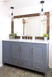 bathroom delightful farmhouse bathroom mirror tutorial cherished