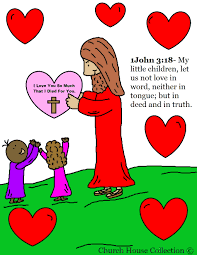 Church House Collection Blog Valentine Jesus With Heart Coloring Page