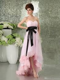 hi low evening dress pink stain modest teen girls dresses