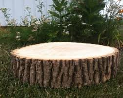 ONE 8 10 Rustic Wedding Centerpiece Slice Wood Disc Tree Branch Log Round LARGE