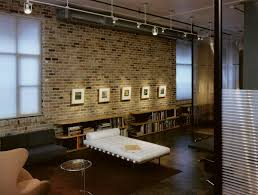 Brick Wall Decor Living Room Industrial With Bookcase Bookshelves Image By Tim Cuppett Architects