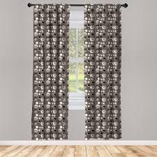gardine fensterbehandlungen 2 panel set für wohnzimmer schlafzimmer dekor abakuhaus taupe dots brushstrokes grunge kaufen otto