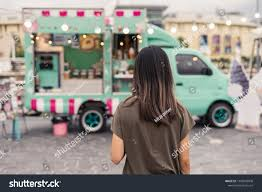 100 Asian Cravings Truck Young Woman Walking Food Stock Photo Edit Now