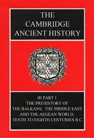 THE CAMBRIDGE ANCIENT HISTORY SECOND EDITION VOLUME III PART I The Prehistory Of Balkans