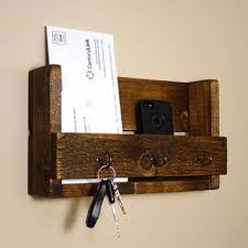 Rustic Key Holder And Mail Organizer