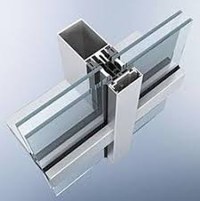 semi unitized curtain wall system at rs 250 square s