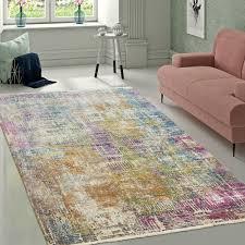 wohnzimmer teppich modern shabby chic pastell