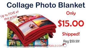 Collage Photo Blanket - Only $15 Shipped @ Walgreens!