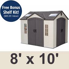 Shed Anchor Kit Instructions by Lifetime 60001 10x8 Garden Shed On Sale With Fast U0026 Free Shipping