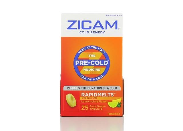 Zicam Cold Remedy Rapidmelts - Echinacea, Lemon & Lime, 25 Tablets