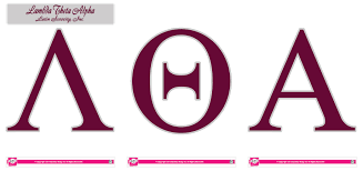 Lambda Theta Alpha Jumbo Letter Decals SororityShop