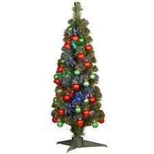 3 Ft Fiber Optic Fireworks Ornament Artificial Christmas Tree