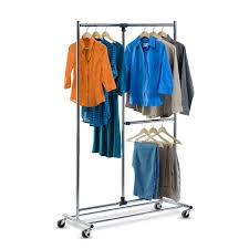 honey can do 2 tier steel rolling garment rack free shipping