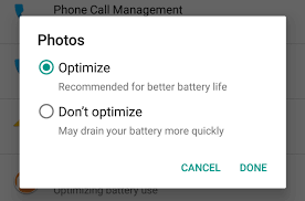 how to exclude certain apps from android s battery saving doze feature