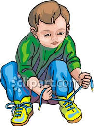 Child Tying Shoes Clip Art Royalty Free Clipart Illustration