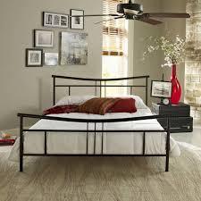 Premier Annika Metal Platform Bed Frame Queen Black with Bonus